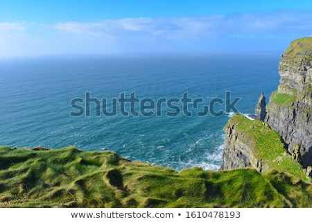 юг Ирландия пляж дома морем Сток-фото © doomko