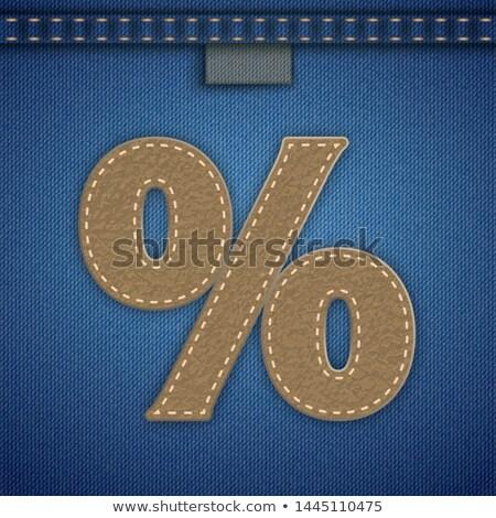 Jeans Ribbon Leather Star Seam Stock photo © limbi007