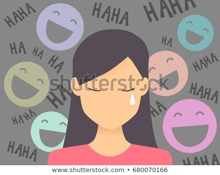 Muchacha adolescente público vergüenza ilustración llorando Foto stock © lenm