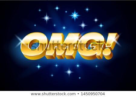 Goud omg opschrift Blauw banner sterren Stockfoto © MarySan