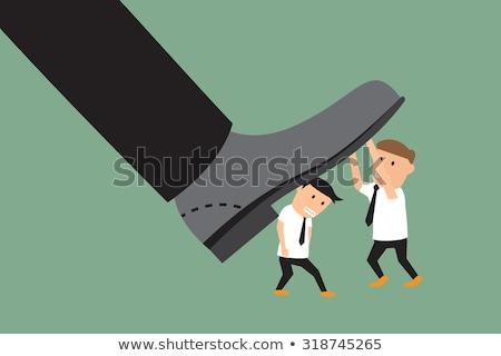 Conflict between small and big businessman Stock photo © ra2studio