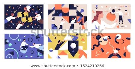 papier · helpende · hand · hand · illustratie · helpen · hulp - stockfoto © robuart