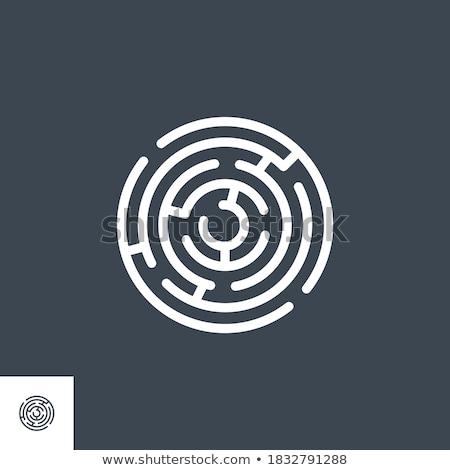 Labyrint vector icon geïsoleerd witte business Stockfoto © smoki