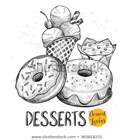 Dibujado a mano vector garabatos ilustración dulces Foto stock © balabolka