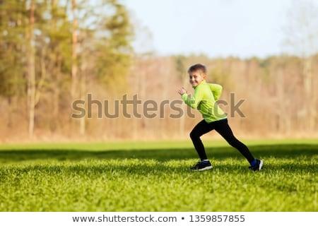 grupo · crianças · corrida · parque · criança · meninas - foto stock © galitskaya