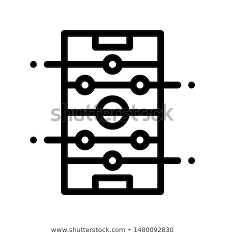 interactive kids game darts vector thin line icon stock photo © pikepicture