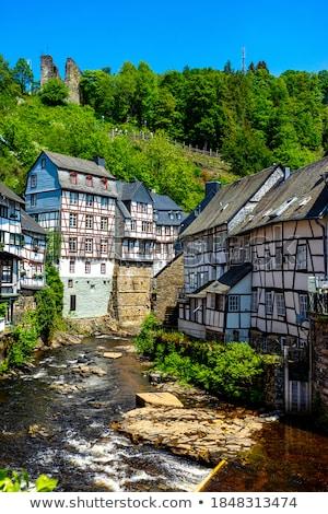 Történelmi házak Németország kilátás város központ Stock fotó © borisb17