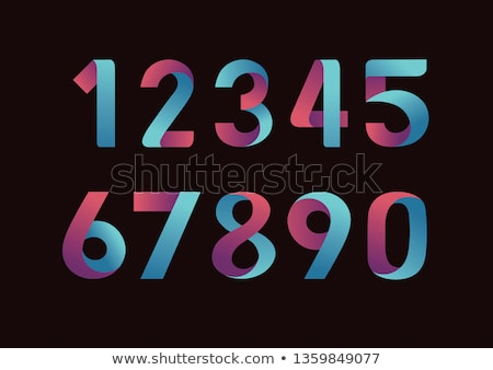 Three colors line font Number 7 SEVEN 3D Stock photo © djmilic