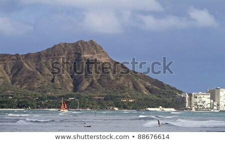 Vitorlás Honolulu Hawaii USA tengerpart természet Stock fotó © diomedes66