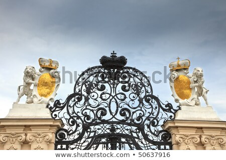 gate to the belvedere palace vienna stock photo © borisb17