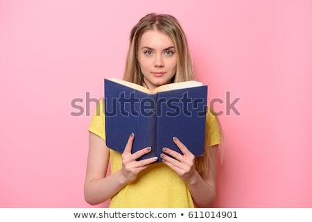 Grappig student boeken geïsoleerd witte man Stockfoto © Elnur