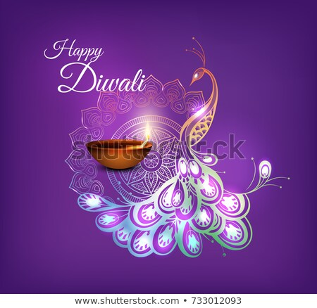 shubh (happy) diwali festival greeting design background with di Stock photo © SArts