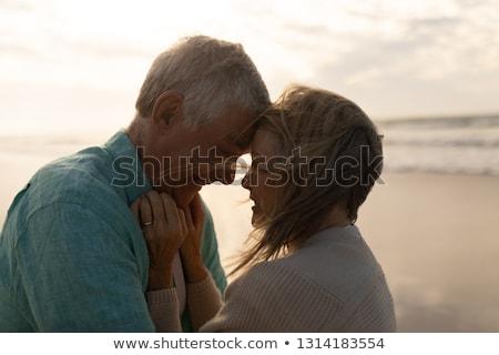 yandan · görünüş · çift · plaj · kadın - stok fotoğraf © wavebreak_media