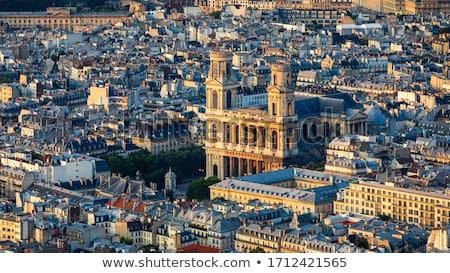 igreja · francês · relógio · natureza · torre - foto stock © borisb17