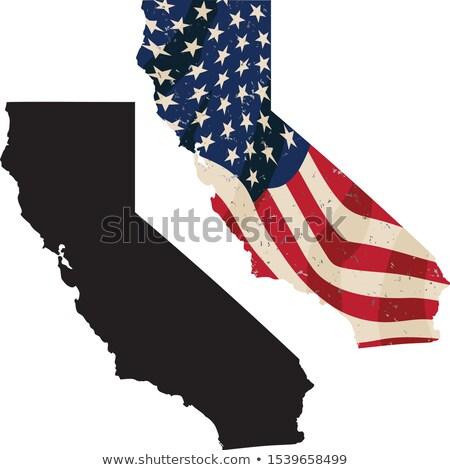 Californie USA pavillon noir silhouette Photo stock © jeff_hobrath