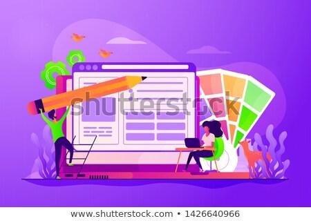 интернет применение развития команда Постоянный большой Сток-фото © jossdiim