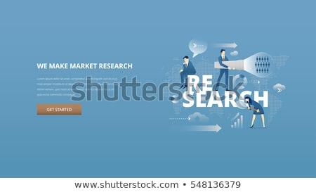 numérique · marketing · stratégie · cible · sociale - photo stock © rastudio