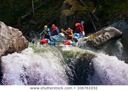 Personas rafting río extrema turismo Foto stock © dariazu
