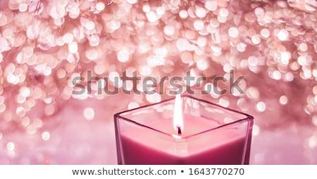 Rood aromatisch kaars christmas nieuwe jaren Stockfoto © Anneleven