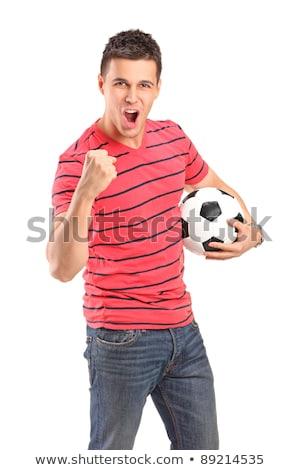 futbolista · victoria · negro · éxito · jóvenes - foto stock © dolgachov