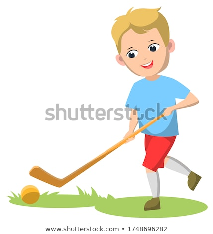 Sport School Club, Boys Playing Field Hockey Stock photo © robuart
