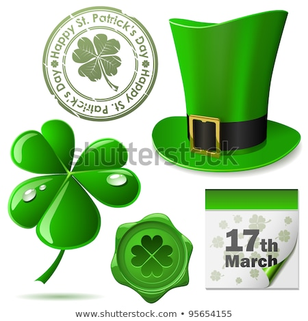 St Patrick day. Calendar for March. Isolated 3D illustration Stock photo © ISerg