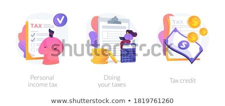 Personal income tax vector concept metaphors Stock photo © RAStudio