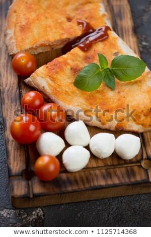 Fresco manjericão bandeja legumes Foto stock © Digifoodstock