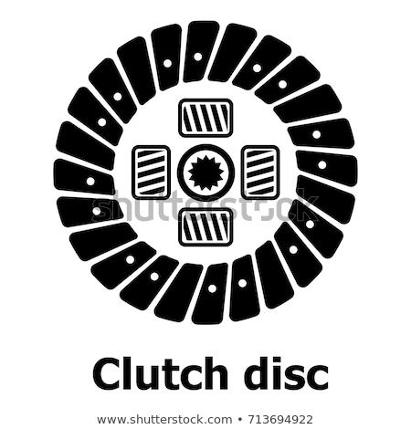 вектора автомобилей сцепления диск изолированный белый Сток-фото © dashadima