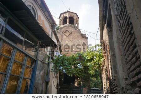 Kerk Georgië centrum gebouw stad Stockfoto © borisb17