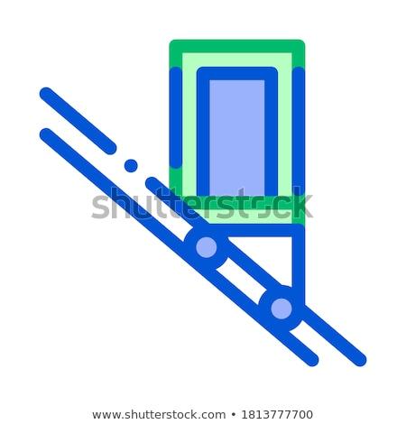 公共交通機関 エレベーター ベクトル アイコン 薄い 行 ストックフォト © pikepicture