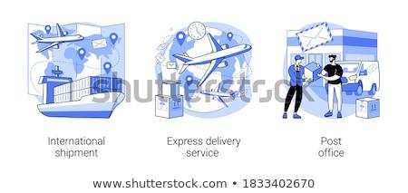 Világszerte rendelés házhozszállítás szolgáltatás vektor metaforák Stock fotó © RAStudio