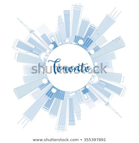 Toronto horizonte azul edificios espacio de la copia Foto stock © ShustrikS