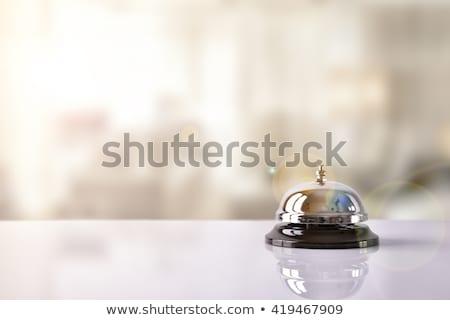 Hotel szolgáltatás harang 3d illusztráció izolált fehér Stock fotó © montego