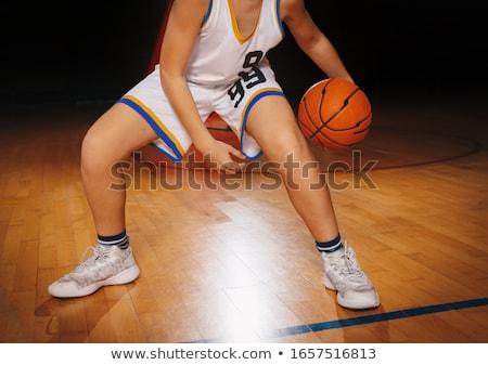 Baloncesto jugadores juego masculina escuela primaria equipo Foto stock © matimix