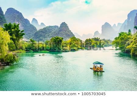 Nascer do sol montanhas natureza montanha chinês Ásia Foto stock © craig