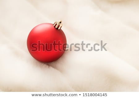 Rood christmas witte pluizig bont achtergrond Stockfoto © Anneleven