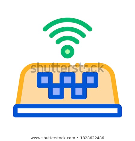 Presence of Wi-Fi in Taxi Online Icon Vector Illustration Stock photo © pikepicture