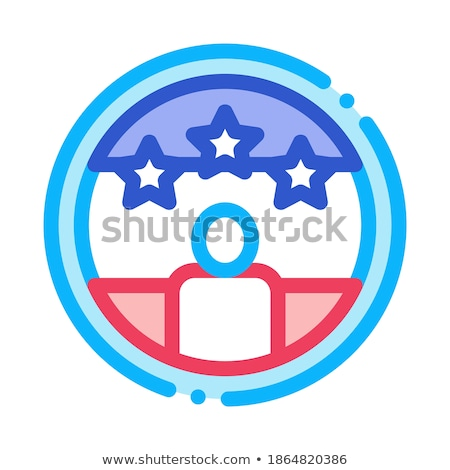 Voter Winner Icon Vector Outline Illustration Stock photo © pikepicture