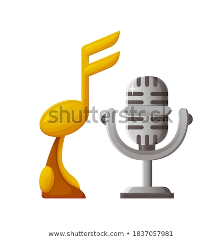 Music Microphone, Silver Prize for Contest Winner Stock photo © robuart