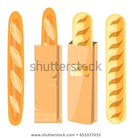 Long Loaf of Bread, French Baguette Meal Vector Stock photo © robuart