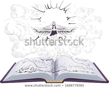 Sole libro aperto illustrazione antica greco leggenda Foto d'archivio © orensila