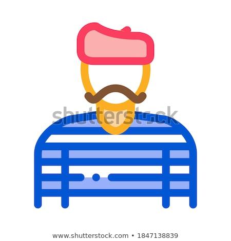 Бейкер повар французский икона вектора Сток-фото © pikepicture