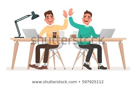 Manager taken kantoormedewerkers vector man Stockfoto © robuart