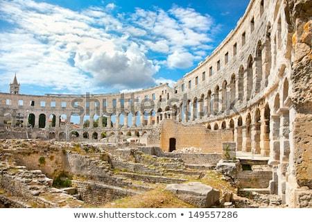 Aréna ősi romok római régió Horvátország Stock fotó © xbrchx