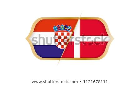 Croácia vs Dinamarca futebol combinar ilustração Foto stock © olira
