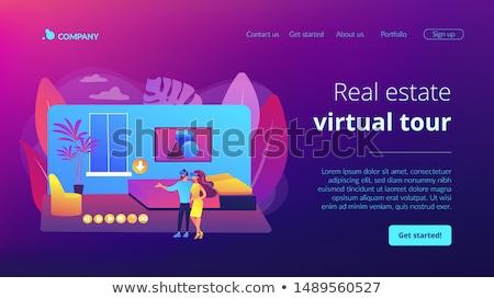 Real estate virtual tour concept landing page Stock photo © RAStudio