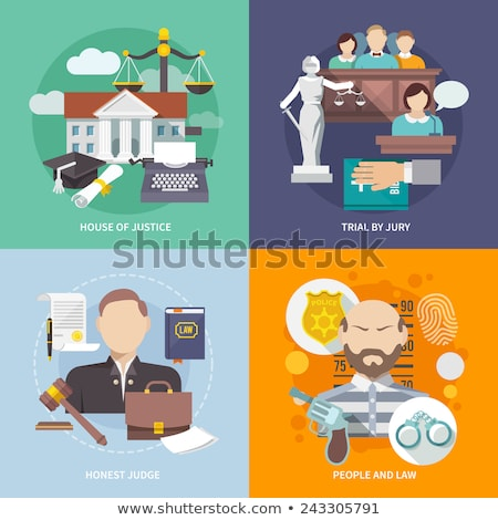 Jogi szolgáltatás nyomozás absztrakt vektor illusztrációk Stock fotó © RAStudio