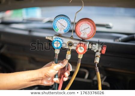 Ausrüstung Festsetzung Luft Zustand modernen Auto Stock foto © simazoran