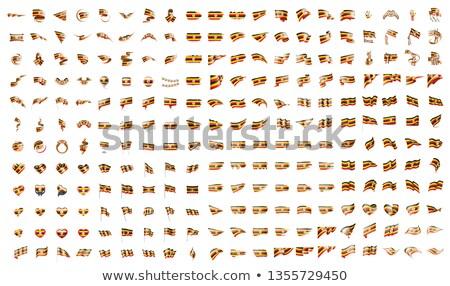 very big collection of vector flags of the Uganda Stock photo © butenkow